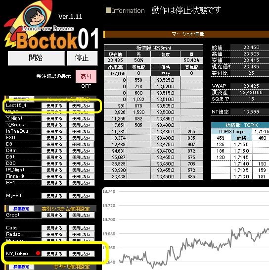Boctok01に無償ストラテジーを追加しました(但し利用条件あり) NY-Tokyo、LAST15_4