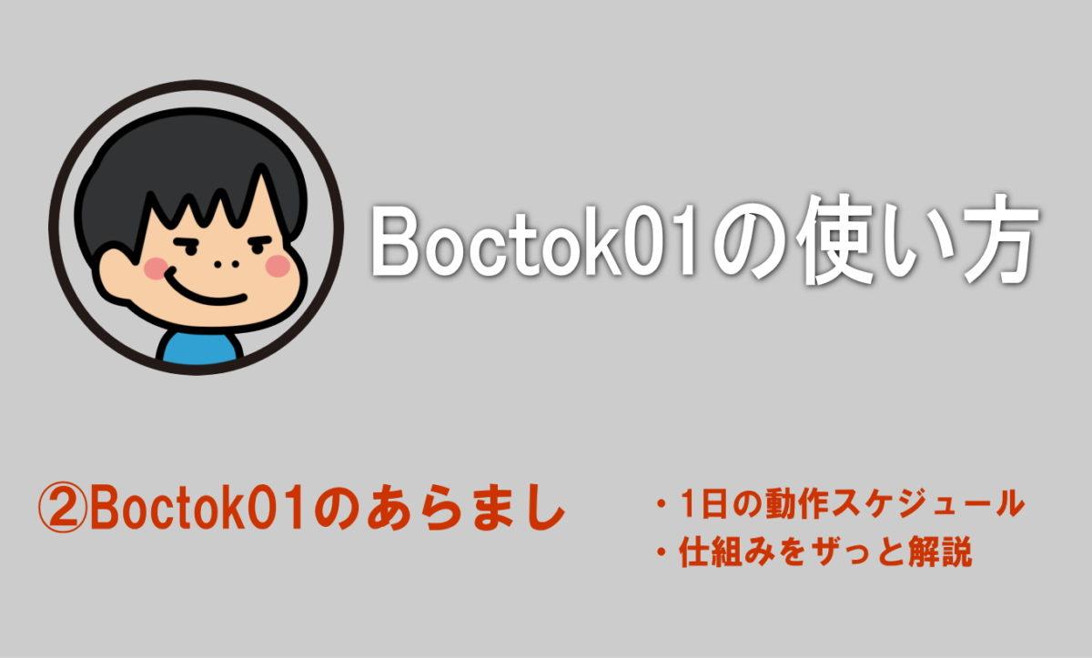 Boctok01のあらまし(動作スケジュール・仕組みをザっと解説)